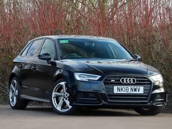 2018 (18) Audi S3 TFSI Quattro Black Edition 5dr S Tronic